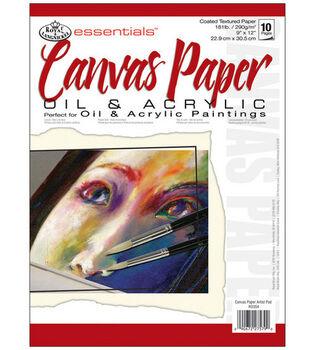 Essentials Artist Paper Pads-Canvas-10 Sheets