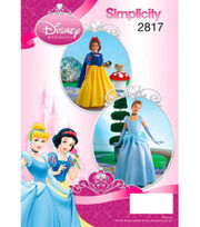 Simplicity Pattern 2817-Dinsey Princess Costumes for Children & Girls, , hi-res