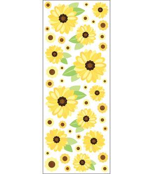 EK Success Puffy Classic Stickers-Sunflowers