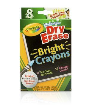 Crayola Dry-Erase Washable Crayons-8/Pkg Brights