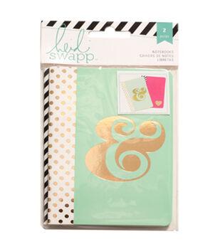 """Heidi Swapp Notebooks 3.5""""X5"""" 2/Pkg-Pink/Mint"""