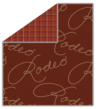 """72"""" No Sew Throw-Rodeo Plaid Barn Red"""