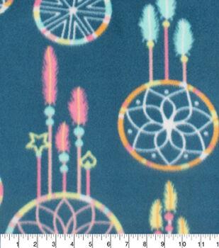 Blizzard Fleece Fabric-Dreamcatcher On Navy
