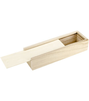 Multicraft Imports Pen Pencil Box With Sliding Cover