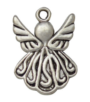 Silver embellishments 20/Pkg-Angel