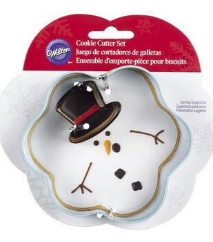 Metal Cookie Cutter Set 2/Pkg-Melted Snowman