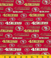 San Francisco 49ers NFL Glitter Cotton Fabric by Fabric Traditions, , hi-res