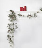 Blooming Holiday 66'' Snow Pinecone Garland, , hi-res