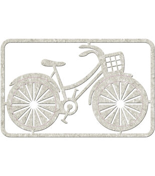 "Die-Cut Gray Chipboard embellishments-Bicycle, 4.25""x2.75"""