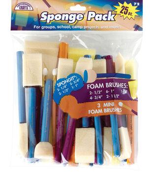 Sponge Pack 25/Pkg-