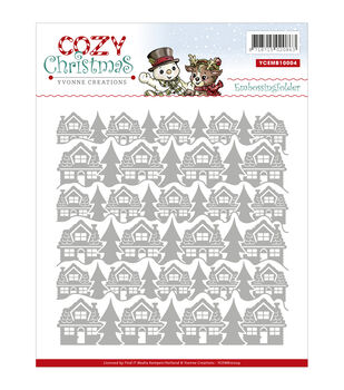 Yvonne Creations Cozy Christmas Embossing Folder