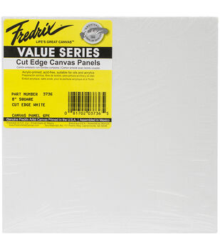 Fredrix Square Cut Edge Canvas Panel 8''