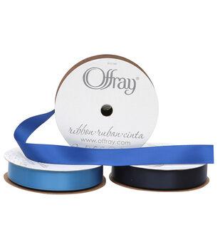 "Offray 5/8""x21' Single Faced Satin Ribbon"