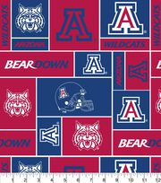 University of Arizona NCAA Block Fleece Fabric, , hi-res