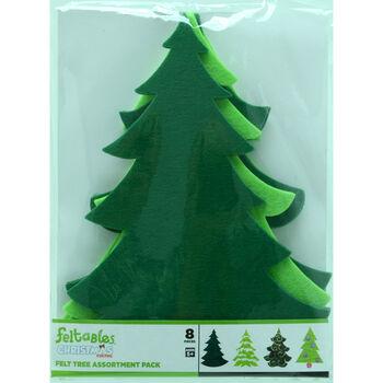 Felt Tree Asst Pack of 8