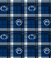 Penn State  NCAA Plaid Fleece Fabric, , hi-res