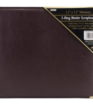 "Pioneer® 12""X12"" Sewn Cover 3 Ring Album"