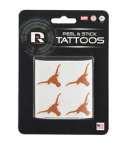 University of Texas NCAA Peel & Stick Tattoos, , hi-res