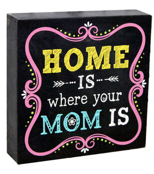 Escape To Paradise Wall Banner-Home Is Where Mom Is