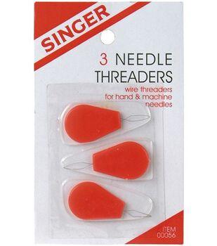 Plastic Needle Threaders-3/Pkg
