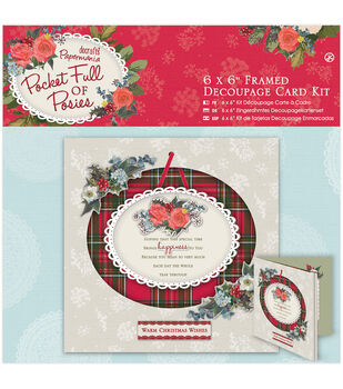 Papermania Pocket Full Of Posies Framed Decoupage Card Kit