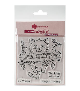 Woodware Craft Collection Clear Magic Single Stamps-Left Hanging