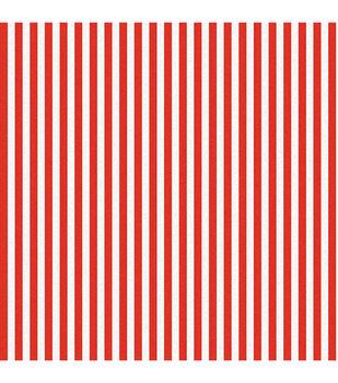 Red/White-Festival Stripe Fabric-8 yard bolt