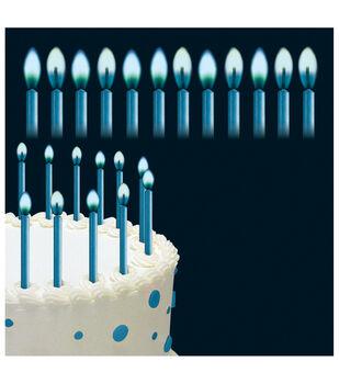 """Wilton® Color Flame Candles 2"""" 12/Pkg-Blue"""