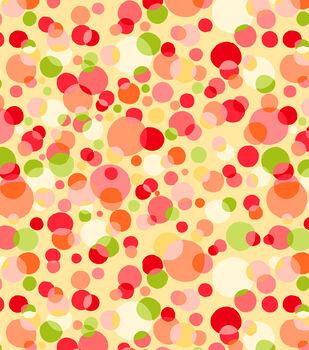Tutti Fruiti Embossed Basic Fabric Free Dots Yellow