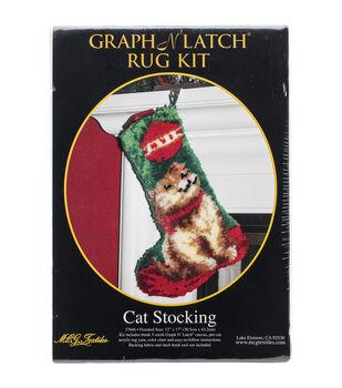"Latch Hook Kit 12""X17""-Cat Stocking"