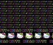 Sanrio Split Hello Kitty Neon Mock Smock, , hi-res