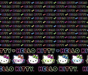 Sanrio Split Hello Kitty Neon Mock Smock