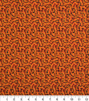 Halloween Cotton Fabric-Packed Pumpkins Allover