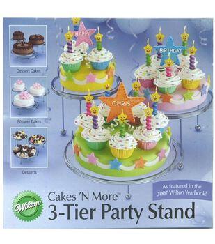 Wilton® 3 Tier Entertainment Stand-8'', 10'', 12''