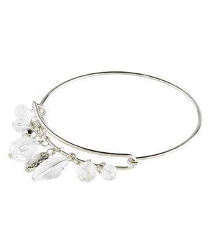 Finished Bracelet Crystal Beads - Silver