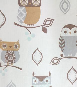 Magic Moon™-Night Owl Branches Cotton Fabric