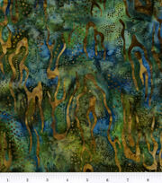 Batik Cotton Fabric-Navy Landscape Batik, , hi-res