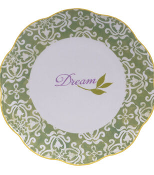 "Susan Winget Dessert Plate-Green ""Dream"""