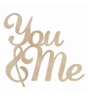 Wood Flourishes Words-You & Me