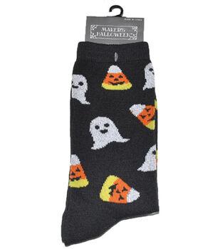 Maker's Halloween Socks-Ghost Candy Corn Crew