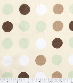 Nursery Fabric Monkey Multi Dot