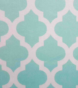 Soft N Comfy Fabric-Aqua Sky Greek Key