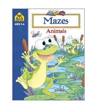 Activity Workbooks 32 Pages-Mazes Animals Ages 4-6