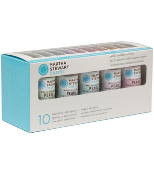 Martha Stewart Pearl & Metallic Acrylic Craft Paint Set-10 Colors