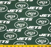 New York Jets NFL Green Cotton Fabric by Fabric Traditions, , hi-res