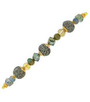 """Jesse James 7"""" Strung Beads- Color Wall 25 Green"""