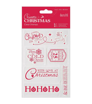 """Papermania Create Christmas Mini Clear Stamps 4""""X6""""-Christmas Sentiments"""