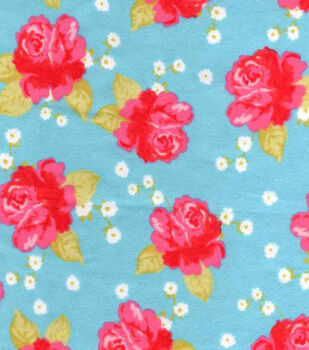 Snuggle Flannel Fabric-Chic Florals