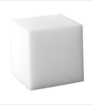 8X8X8In Styrofoam Cube White