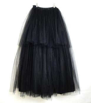 Maker's Halloween Long Adult Tutu-Black